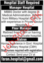 Hospital Staff Jobs In Lahore 2021