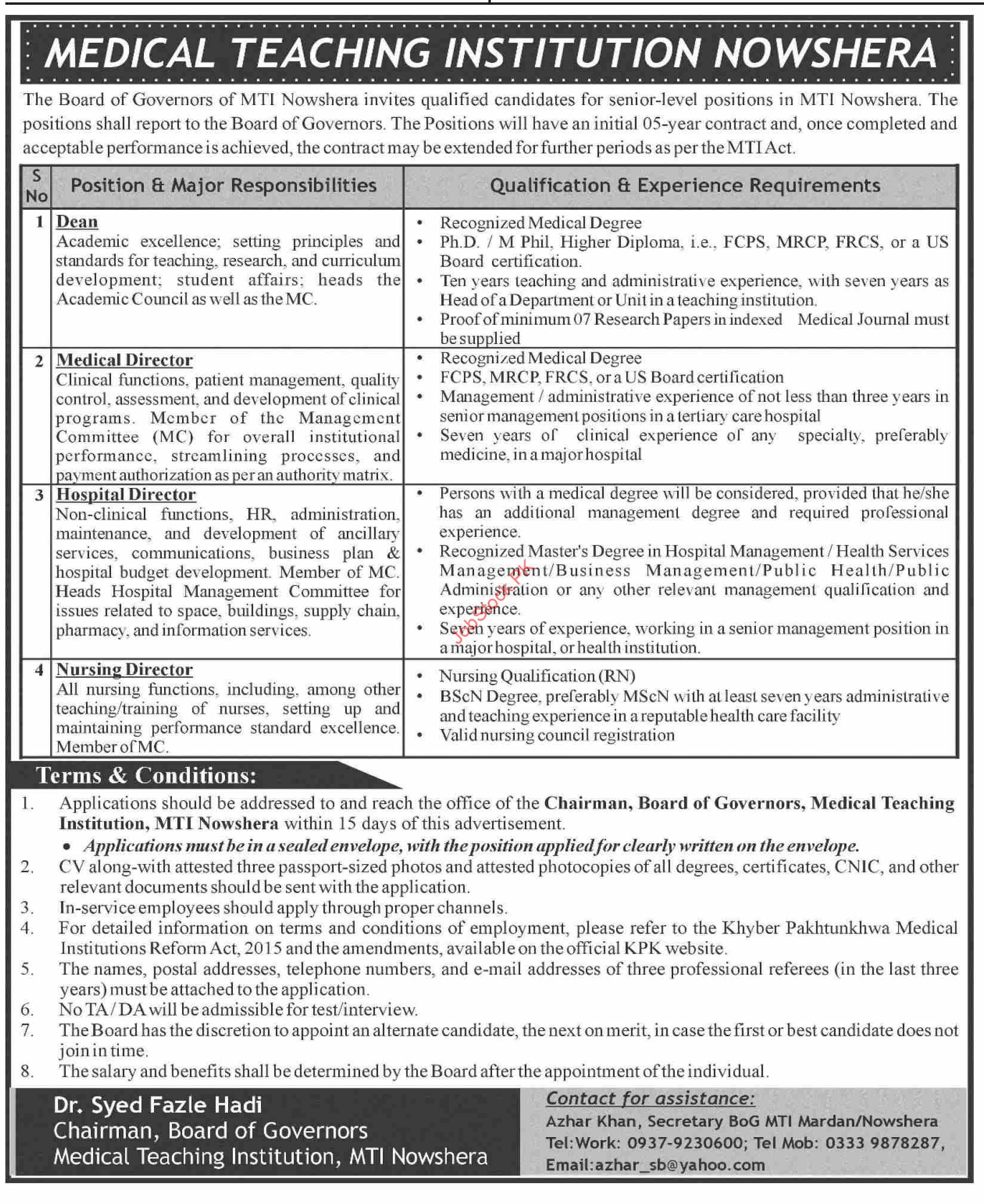 Latest Government Jobs In Nowshera 2021