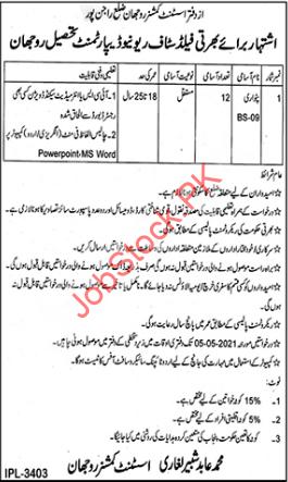 Patwari Jobs In Revenue Department 2021 April Latest