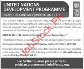The United Nations Development Programme (undp) Job Vacancy