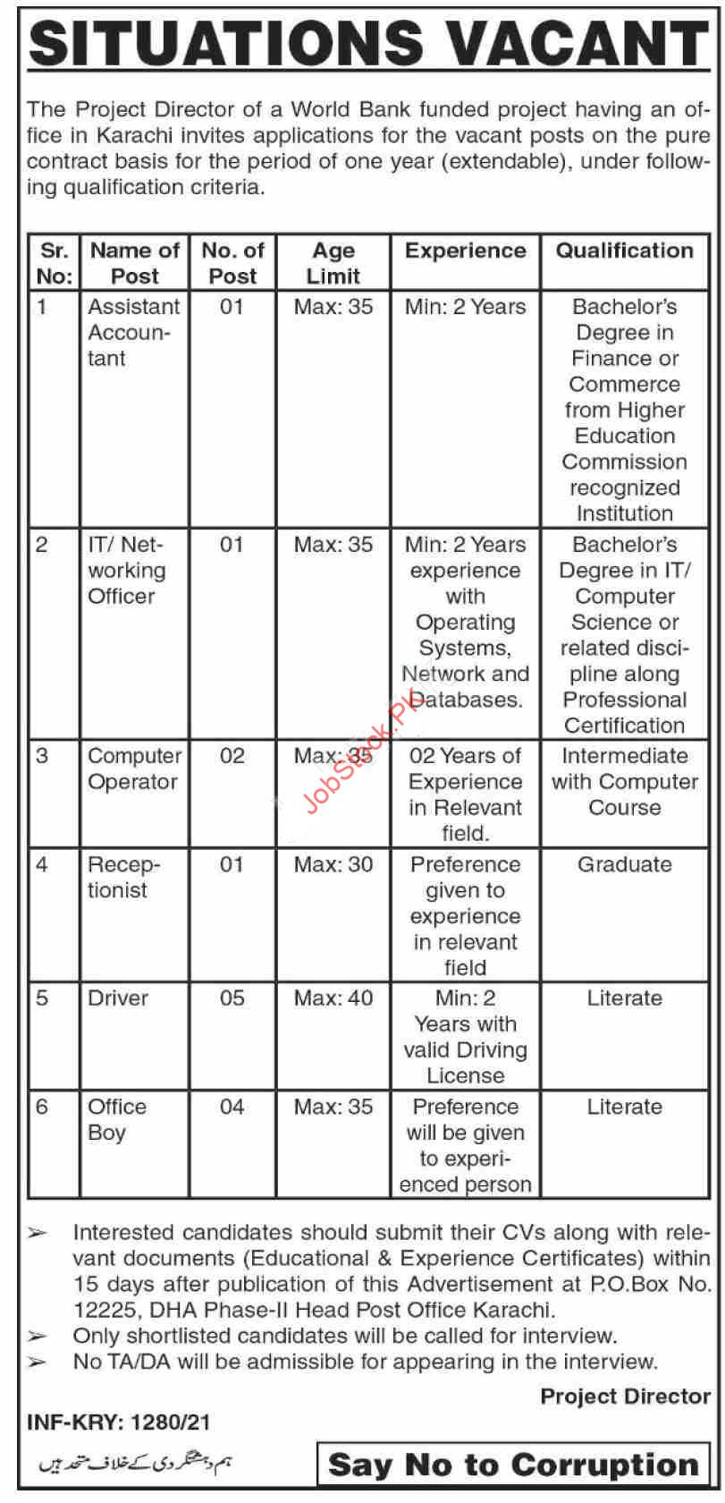 World Bank Jobs In Karachi Latest April 2021 Advertisement Download