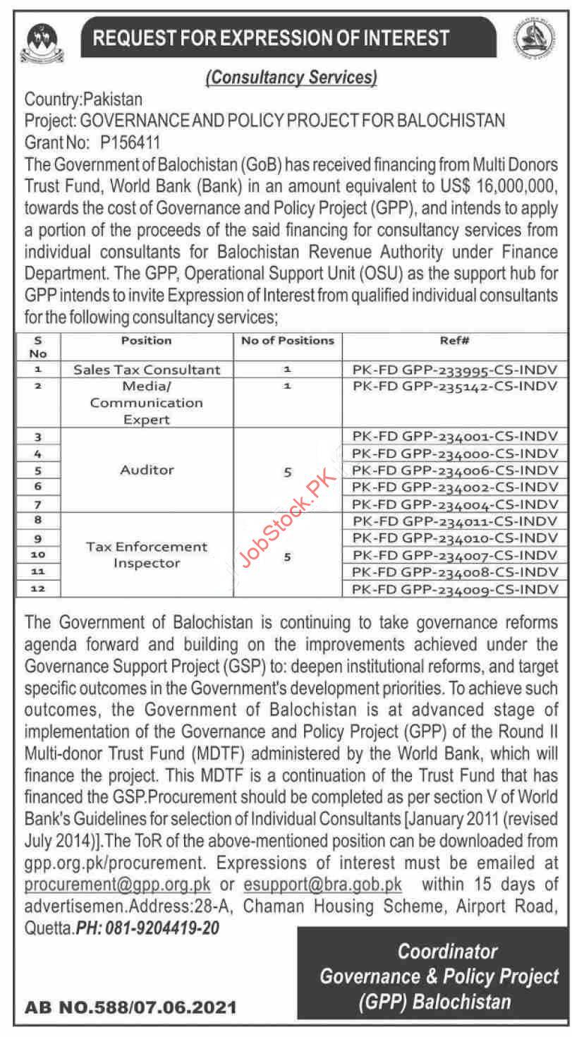 Balochistan Jobs Advertisement