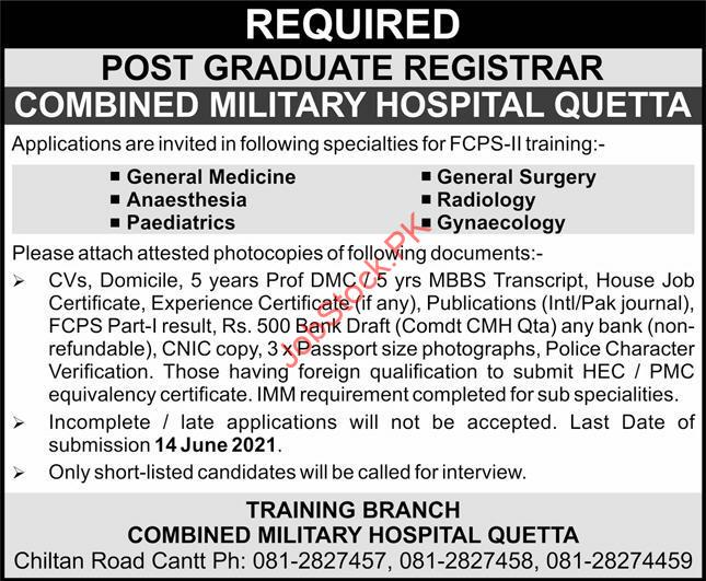 Cmh Quetta Jobs 2021 Advertisement
