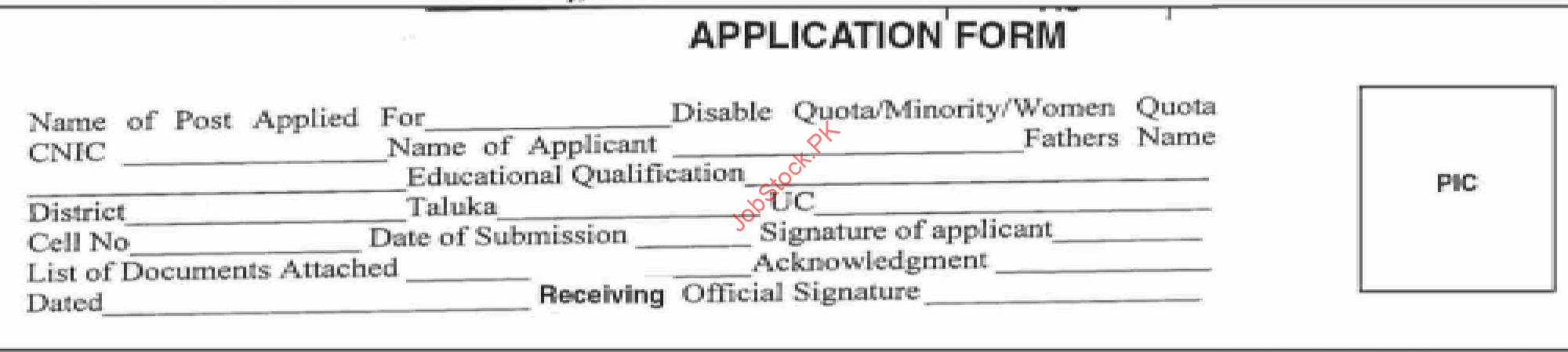 Education And Literacy Department Sindh Job Application Form 2021