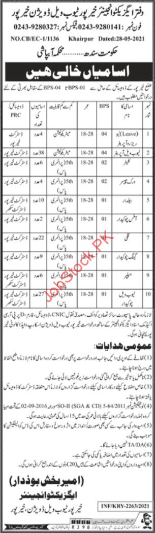 Jobs In Irrigation Department Sindh Advertisement