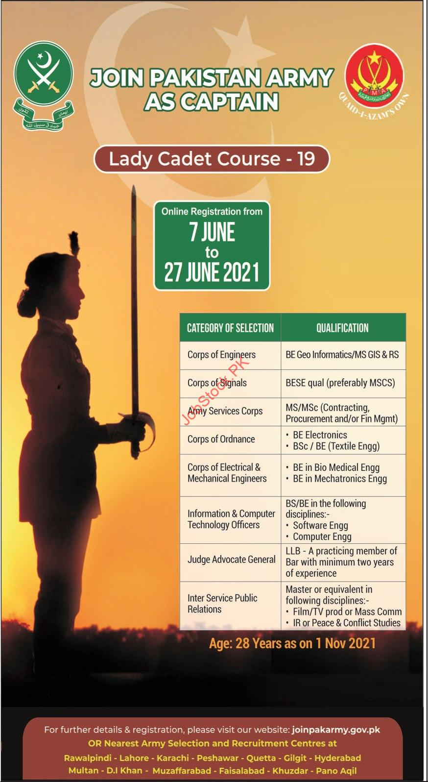 Join Pak Army Online Registration 2021 Advertisement