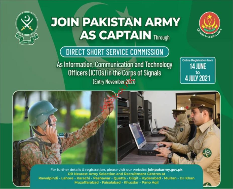 Join Pak Army As Captain Advertisement
