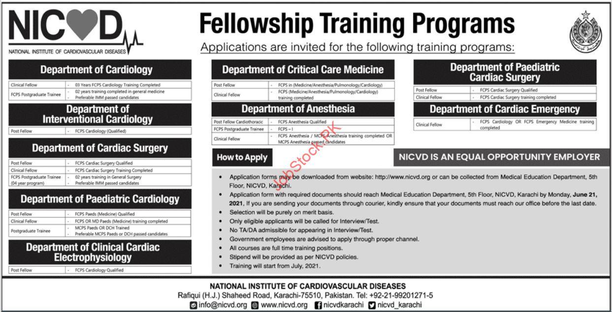National Institute Of Cardiovascular Diseases Karachi Advertisement