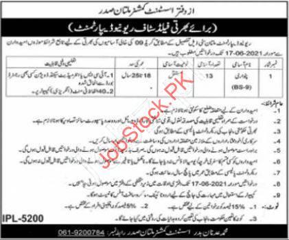 Patwari Jobs In Multan 2021 Advertisement Download