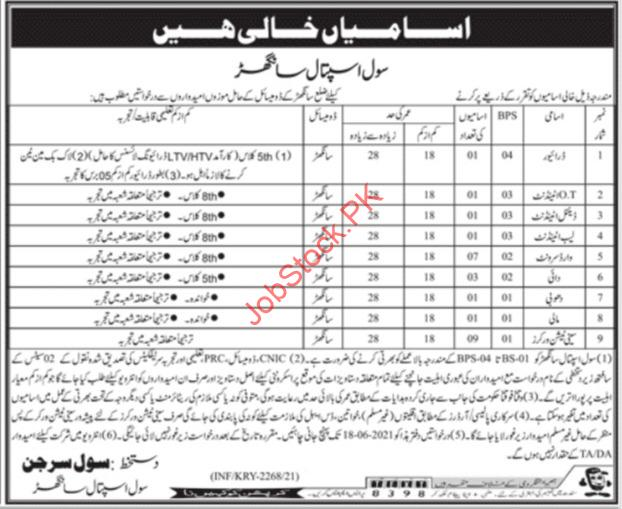 Sanghar Civil Hospital Jobs Advertisement In Urdu