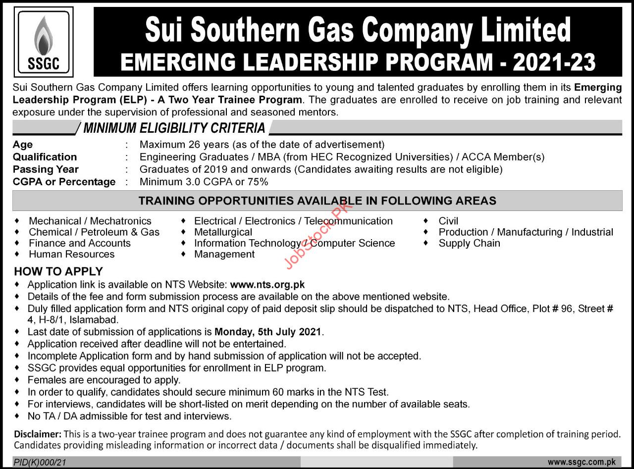 Sui Gas Jobs 2021 Online Apply Advertisement