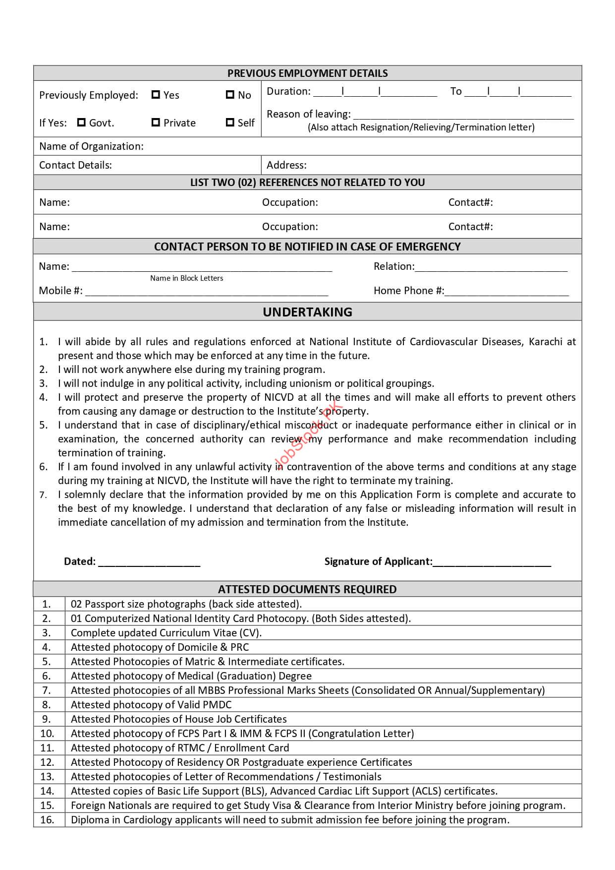 Nicvd.org Application Form Download Page 2
