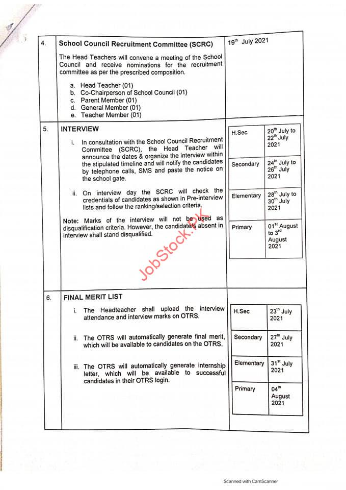 Otrs Punjab 2021 Apply Online Application Online Teacher Recruitment System 5