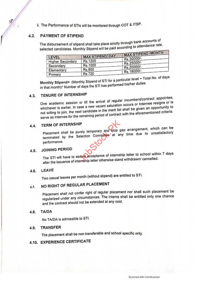Otrs Punjab 2021 Apply Online Application Online Teacher Recruitment System 7