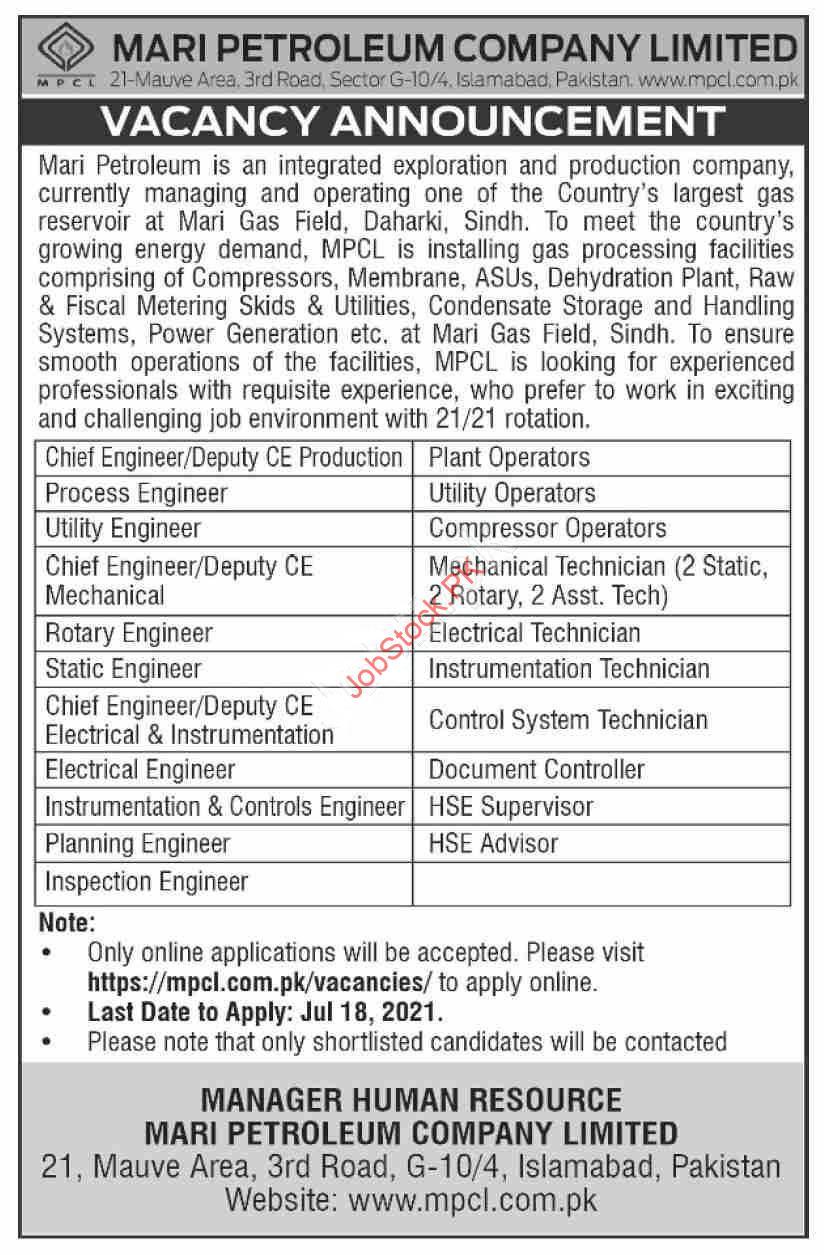 Pakistan Petroleum Limited Jobs Add 2