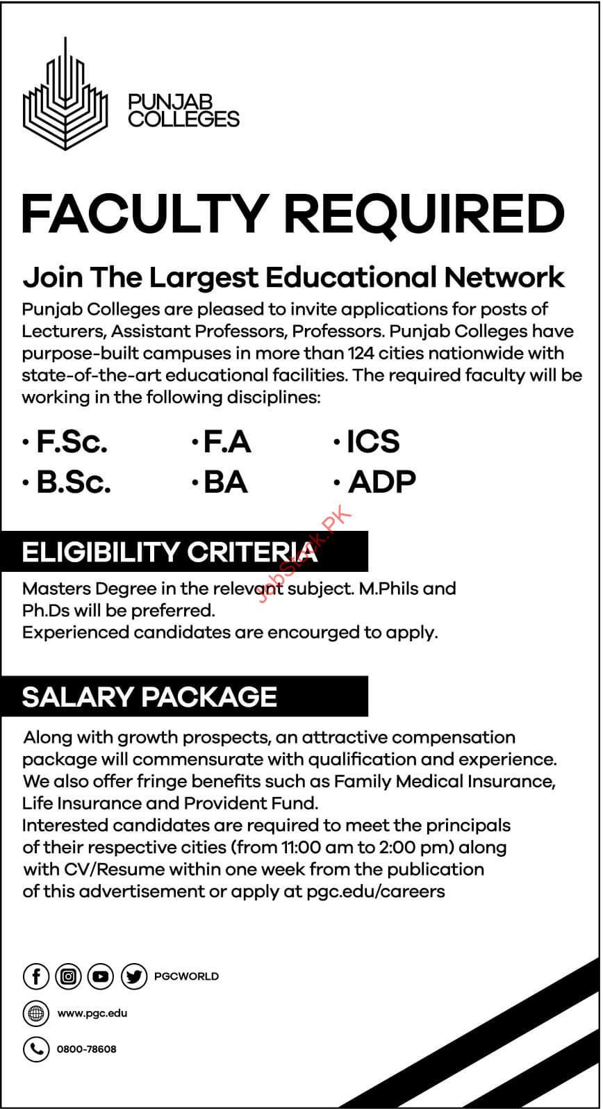 Pgc.edu.pk Careers