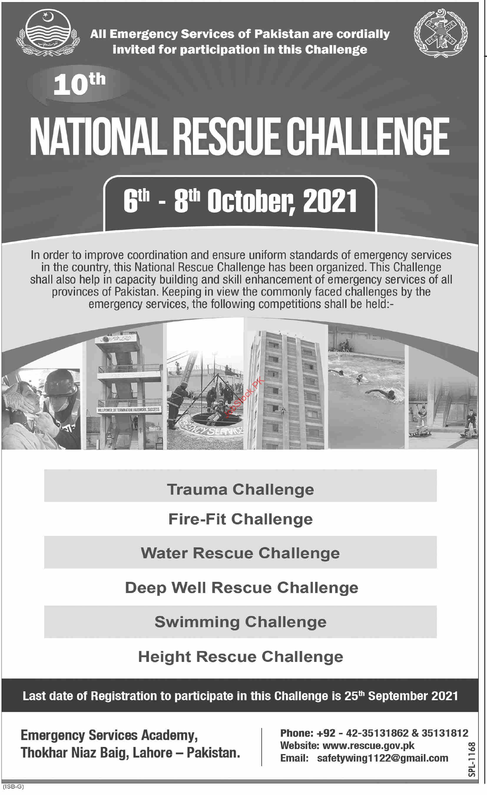National Rescue Challenge 2021 October By Emergency Service Of Pakistan
