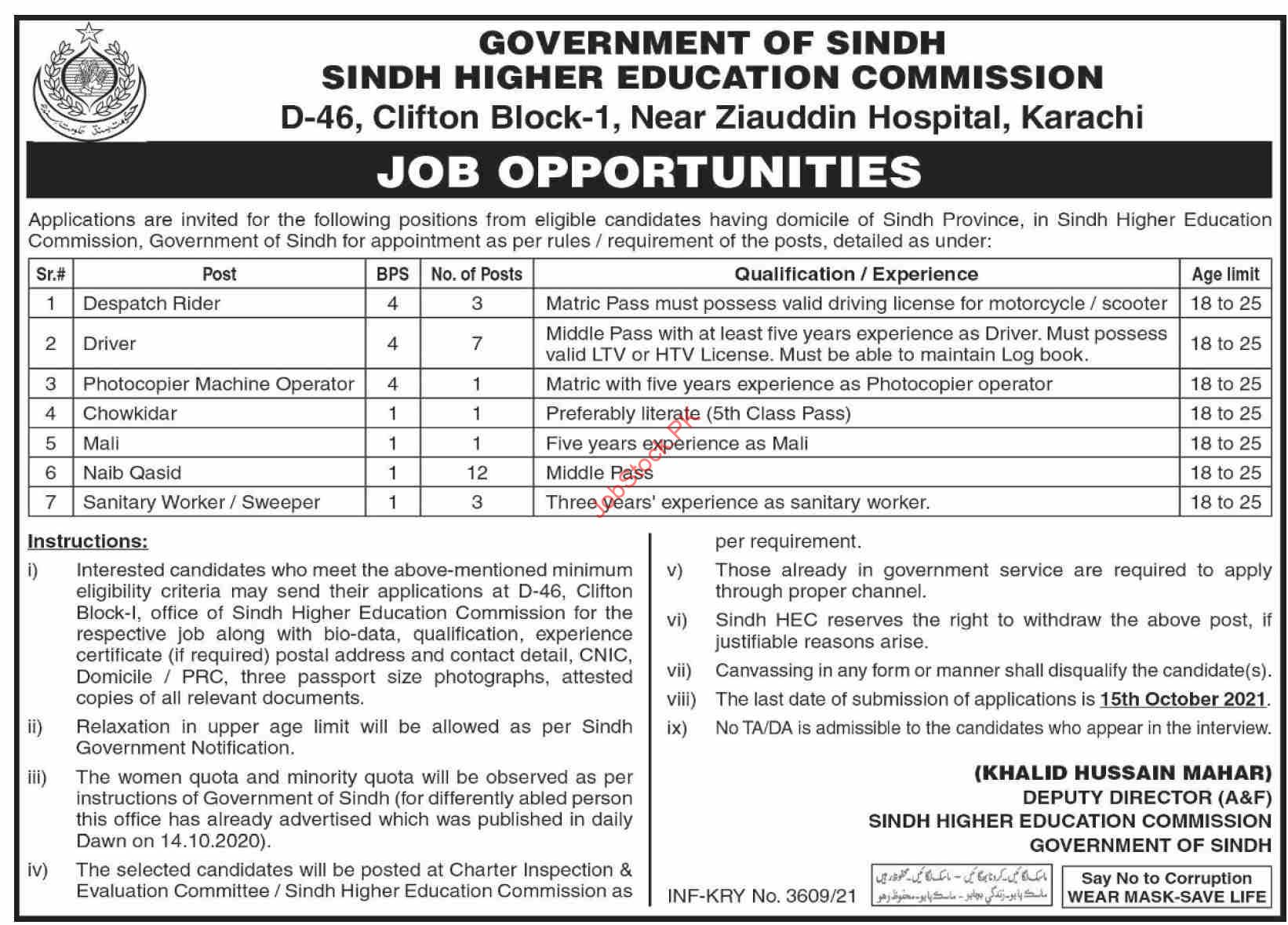 Sindh Government Education Department Jobs 2020