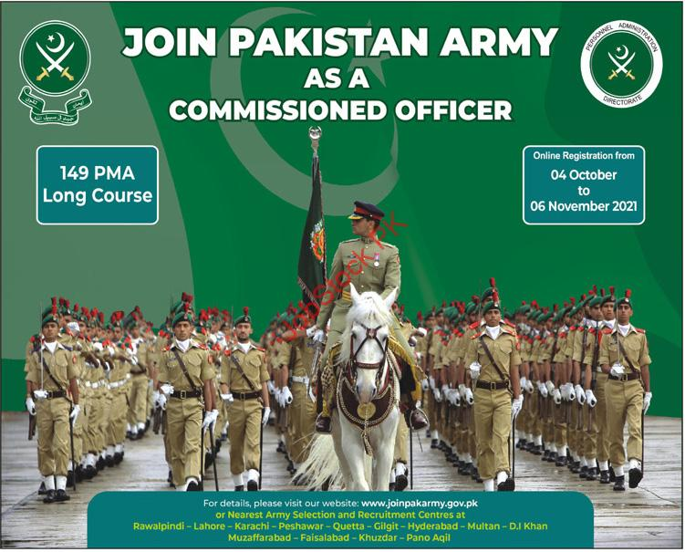149 PMA Long Course Join Pak Army as Commissioned Officer 2021 Online Registration