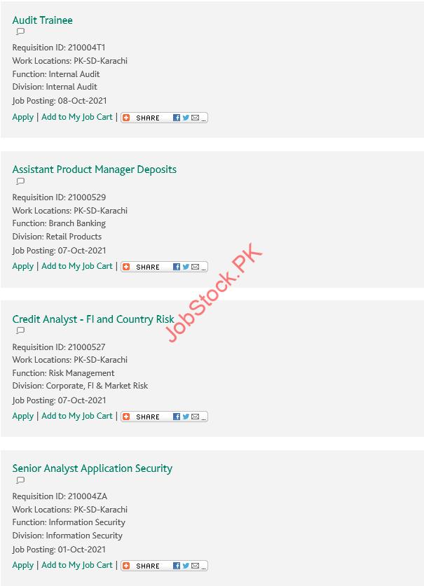 HBL Jobs 2021 Online Apply Habib Bank Limited Careers